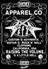 """G.A.A. Apparel Co. Guitar T Shirt Brand """"Raising the Volume & Little Hell"""", guitar t shirt"""