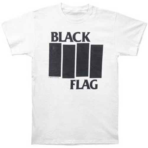 BLACK FLAG Bars Classic Logo T Shirt