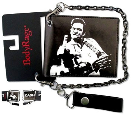 JOHNNY CASH (FINGER ) Wallet With Chain