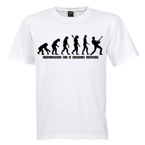 G.A.A. Evolution Of A Guitar Addict T shirt