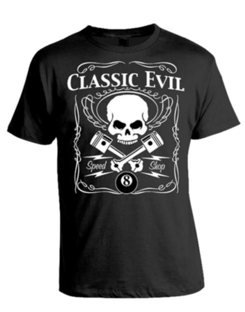 Crazy 8 Classic Evil Speed Shop T Shirt