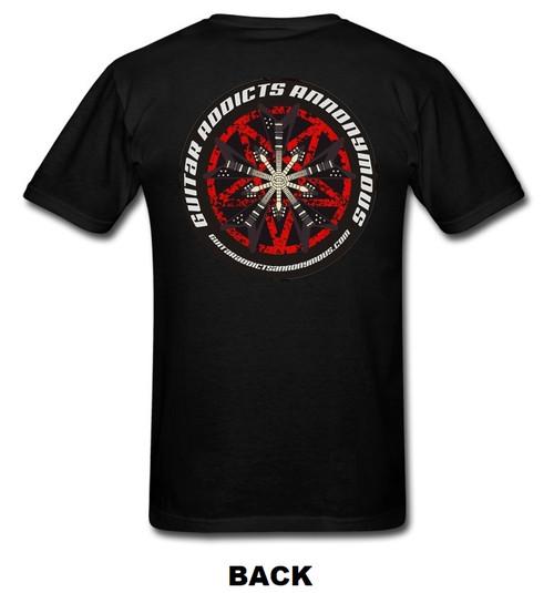 guitar t shirt, G.A.A. Members Exclusive Circle/Star of Vs Guitar T Shirt