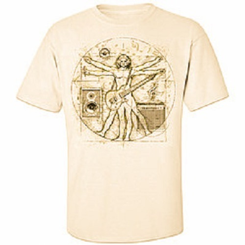 Davinci Music Guitar T Shirt Premium Sand Cotton Shirt