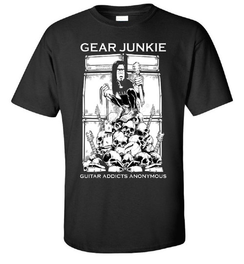 "guitar t shirt, G.A.A. Members Exclusive Guitar t-shirt ""Gear Junkie"""