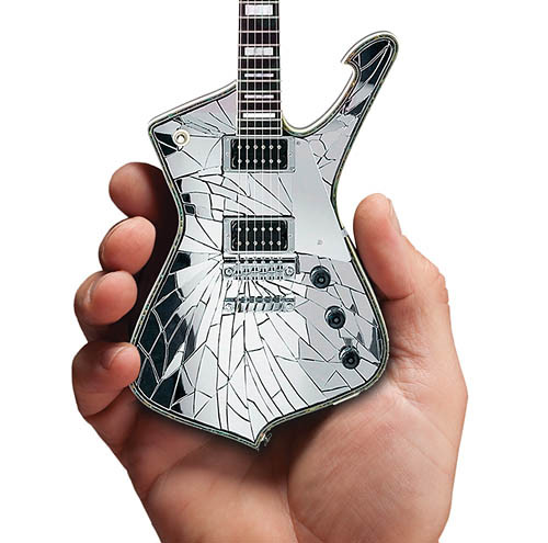 "Axe Heaven KISS ""Shattered Mirror"" Paul Stanley Mini Guitar"