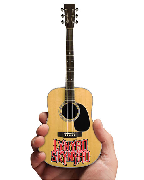 Iconic Concepts Lynyrd Skynyrd  Acoustic Mini Guitar With Logo