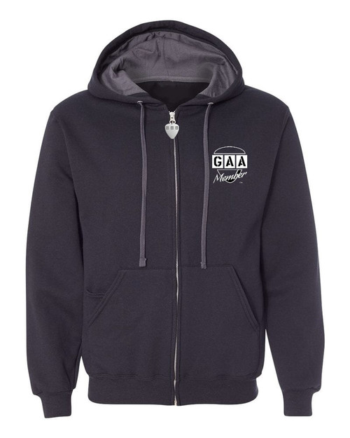 "G.A.A. Members Exclusive ""One Is Never Enough"" Guitar Jacket Premium Zipper Hoodie w/Hidden Pick Pocket"