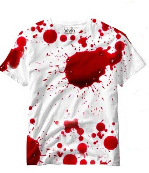 Vivid Allover Print Blood Splatter  Mens T Shirt