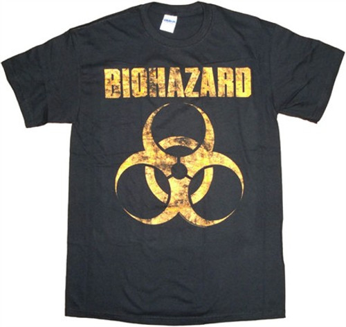 BIOHAZARD DISTRESS LOGO T Shirt
