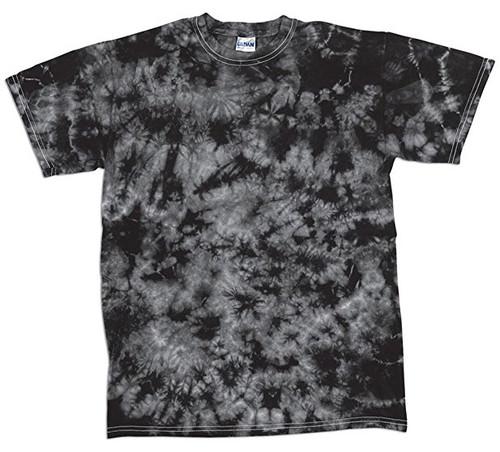 Dyenomite Crystal Tie Dyed Black/Gray T-Shirt