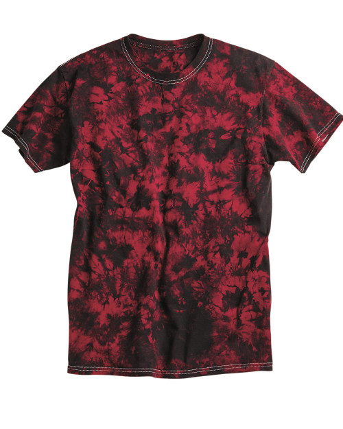 Dyenomite - Crystal Tie Dyed Red/Black T Shirt