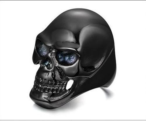 Gothic Mens Punk Black Skull Ring