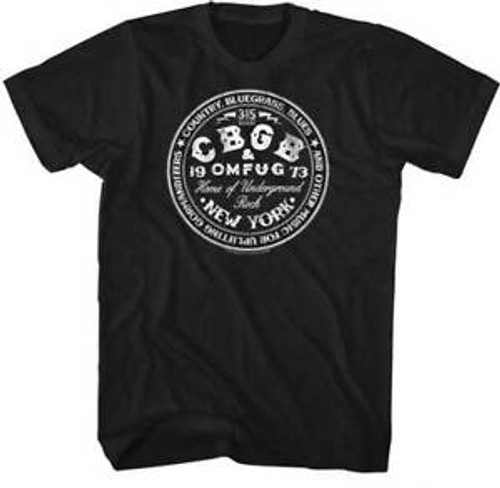 CBGB New York (CIRCLE) Logo T Shirt