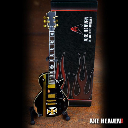 "Axe Heaven James Hetfield Signature ""Maltese Cross"" Miniature Guitar Replica Collectible"