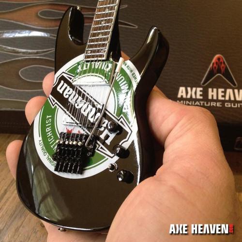 Axe Heaven Jeff Hanneman Green Heineken Logo Miniature Guitar Replica Collectible