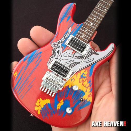 Joe Satriani Signature Silver Surfer Miniature Guitar Replica Collectible