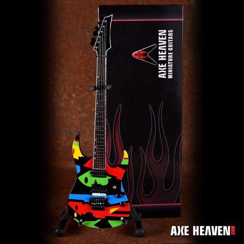 """Axe Heaven John Petrucci """" Color Cubist"""" Picasso-Designed Mini Guitar Replica Collectible"""