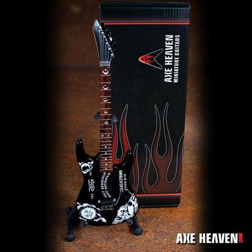 "Axe Heaven Kirk Hammett Signature ""Ouija"" Miniature Guitar Replica Collectible (kh-290)"