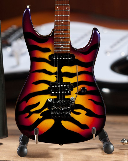 Axe Heaven Officially Licensed George Lynch Sunburst Tiger Miniature Guitar Replica Collectible