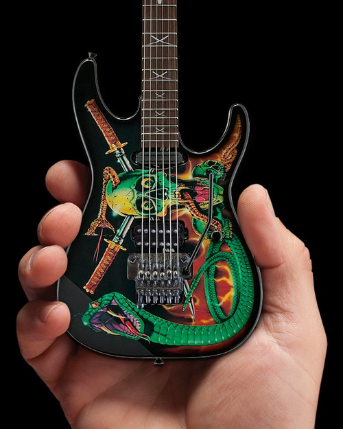 Axe Heaven Officially Licensed George Lynch Skulls & Snakes Mini Guitar Replica Collectible
