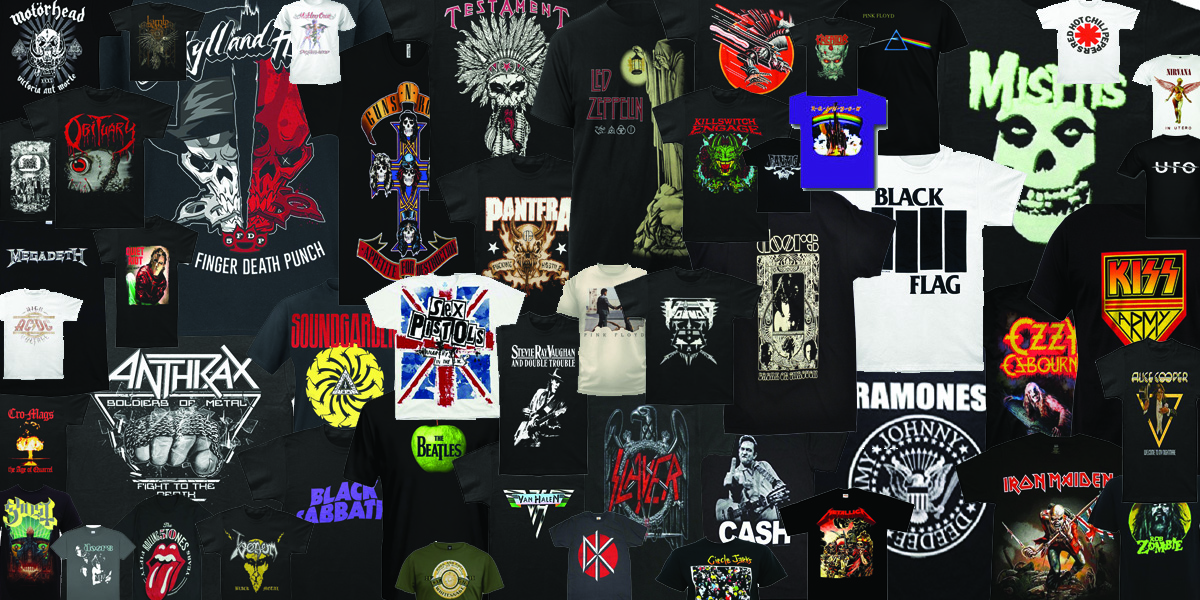 First Quarter of 2018 Best Selling Band T Shirts