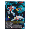 Transformers War for Cybertron: Earthrise Voyager Class STARSCREAM Action Figure packaging from the back.