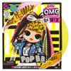 Unbox L.O.L. Surprise! O.M.G. Remix fashion doll – Pop B.B. – with 25 surprises.