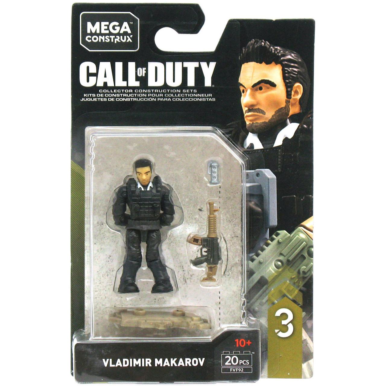 Mega Construx Call Of Duty Specialists Series 3 Vladimir Makarov Figure Bubble N Squeak Toys