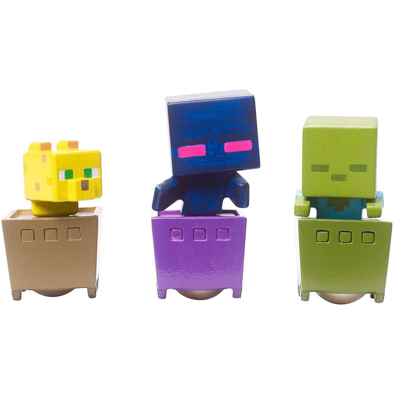3 Pack FFK79 Mattel Minecraft 3 Mini Figure