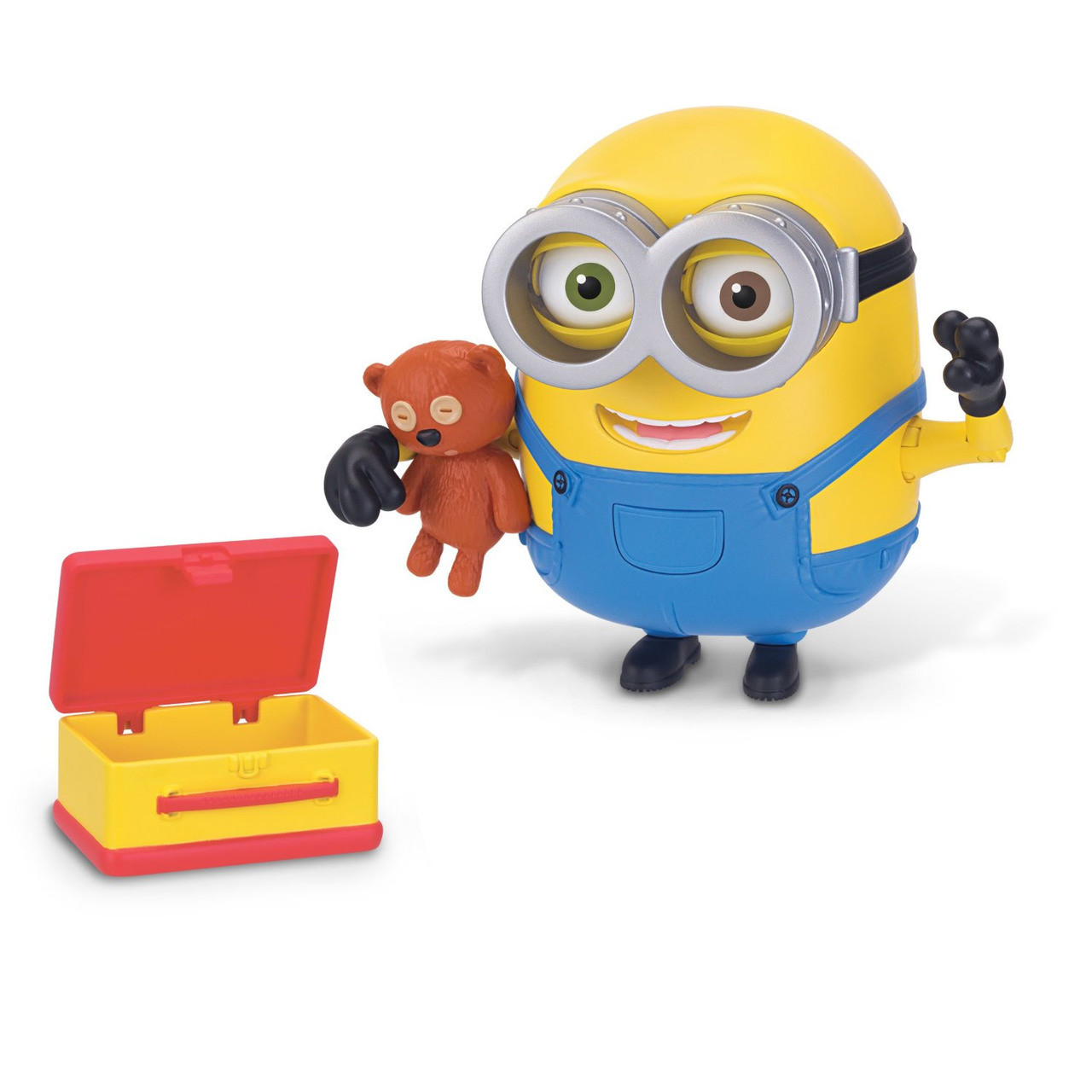 minions bob with teddy bear poseable deluxe action figure