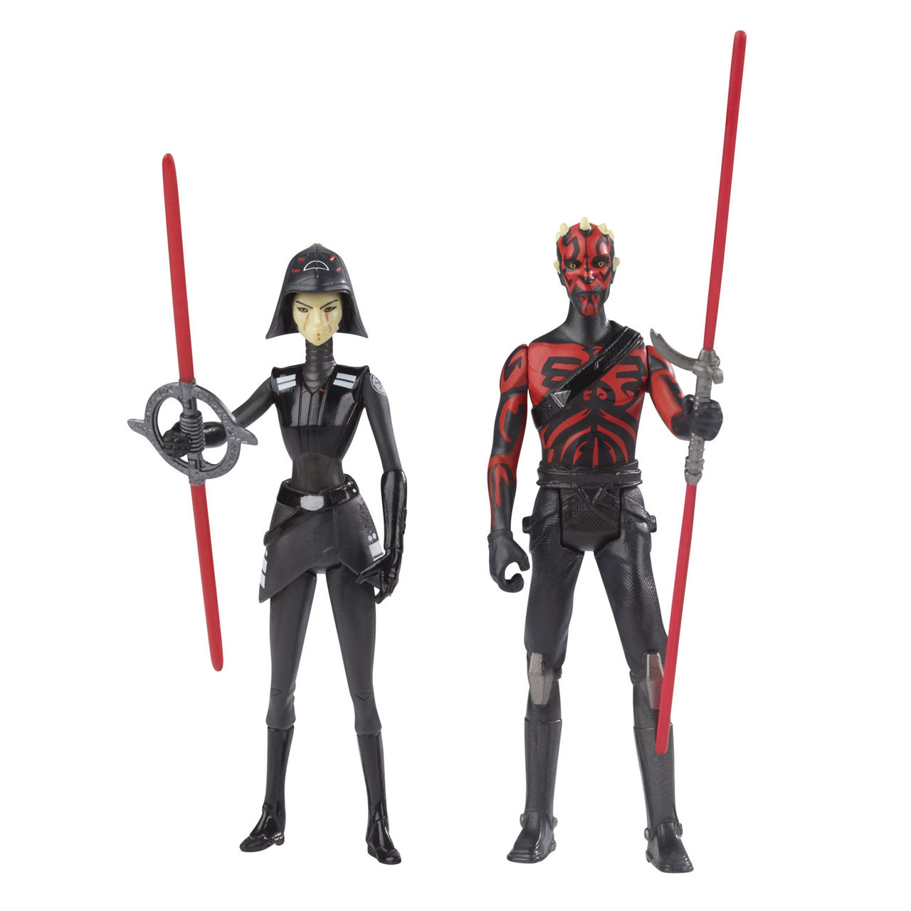 "Star Wars Rebels 3.75/"" Seventh Sister Inquisitor VS Darth Maul Figures by Hasbro"