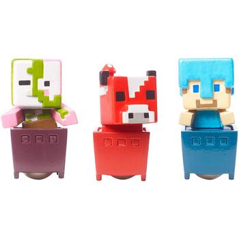 Minecraft ZOMBIE PIGMAN, DIAMOND STEVE & MOOSHROOM Minecart 3-Pack
