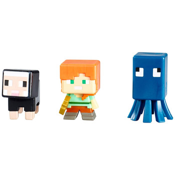 Minecraft Netherrack Series 3: SQUID, ALEX & BLACK SHEEP Mini-Figure 3-Pack