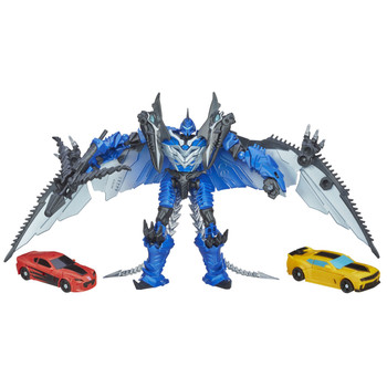 Transformers Age of Extinction Deluxe Class STRAFE with Legion Class BUMBLEBEE & STINGER
