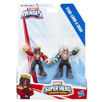 Marvel Super Hero Adventures STAR-LORD & DRAX Figure 2-Pack