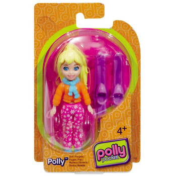Polly Pocket Skiing POLLY 9.5 cm Doll and Accessory