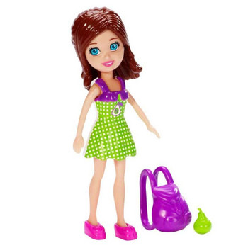 Polly Pocket Fruit Fashion LILA 9.5 cm Doll and Accessory