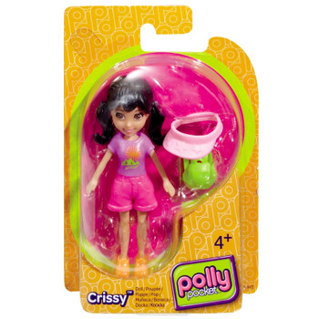 Polly Pocket Backpacking CRISSY 9.5 cm Doll and Accessory
