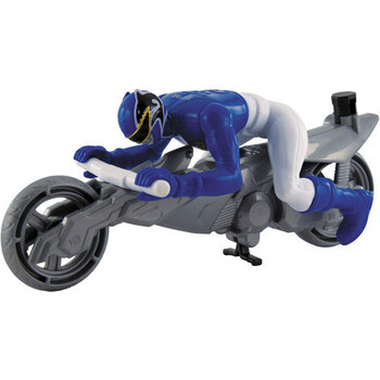 Power Rangers Megaforce ZordBuilder SEA LION BLUE RANGER Cycle & Figure