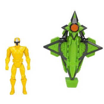 Power Rangers Ninja Steel YELLOW RANGER Mega Morph Cycle & Figure