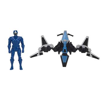 Power Rangers Ninja Steel BLUE RANGER Mega Morph Glider & Figure