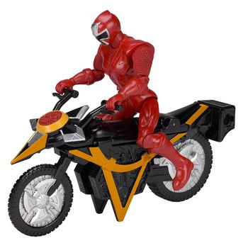 Power Rangers Ninja Steel RED RANGER Mega Morph Cycle & Figure