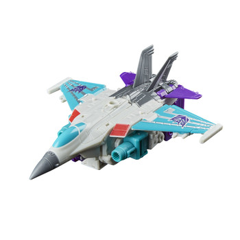 Decepticon Dreadwind converts from robot mode to jet mode in 13 steps.