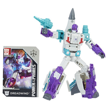 Deluxe Class Decepticon Dreadwind stands around 6.25 inch (16 cm) tall in robot mode (including jet nose cone).