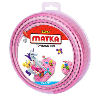 Mayka Toy Block Tape PINK 2m/6.5ft 4-Stud