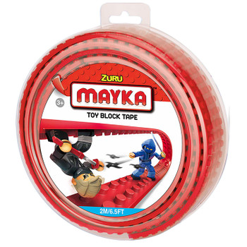 Mayka Toy Block Tape RED 2m/6.5ft 4-Stud