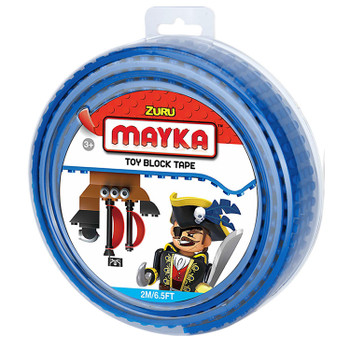 Mayka Toy Block Tape BLUE 2m/6.5ft 4-Stud