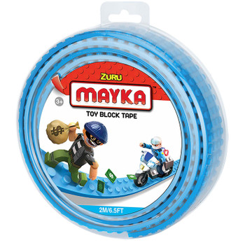 Mayka Toy Block Tape LIGHT BLUE 2m/6.5ft 4-Stud