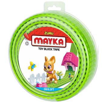 Mayka Toy Block Tape LIGHT GREEN 2m/6.5ft 4-Stud