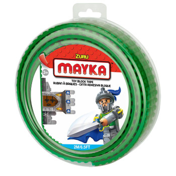Mayka Toy Block Tape GREEN 2m/6.5ft 4-Stud
